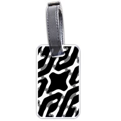 Giant Bold Dark Geometric Print Luggage Tags (two Sides)