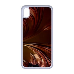 Fractal Copper Copper Color Leaf Apple Iphone Xr Seamless Case (white)