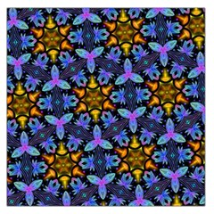 Blue Flowers Wallpaper Backgrounds Large Satin Scarf (square)