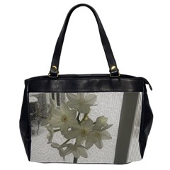 Paperwhite Oversize Office Handbag (2 Sides) by Riverwoman