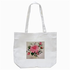 Margaret s Rose Tote Bag (white) by Riverwoman