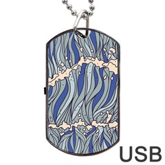 Traditinal Japanese Art Dog Tag Usb Flash (two Sides) by tarastyle