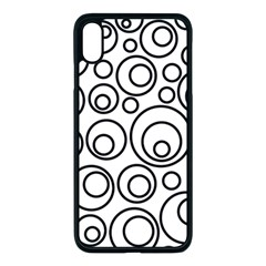 Abstract Black On White Circles Design Apple Iphone Xs Max Seamless Case (black)