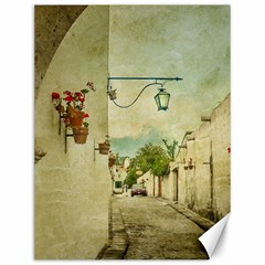 Vintage Grunge Print Arequipa Street, Peru Canvas 12  X 16  by dflcprintsclothing