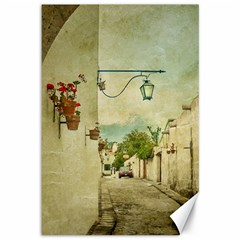 Vintage Grunge Print Arequipa Street, Peru Canvas 12  X 18  by dflcprintsclothing