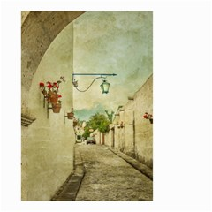 Vintage Grunge Print Arequipa Street, Peru Small Garden Flag (two Sides) by dflcprintsclothing
