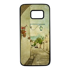 Vintage Grunge Print Arequipa Street, Peru Samsung Galaxy S7 Black Seamless Case by dflcprintsclothing