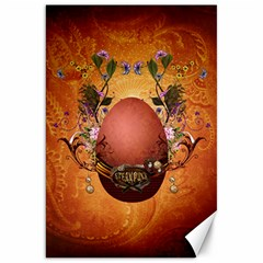 Wonderful Steampunk Easter Egg With Flowers Canvas 20  X 30  by FantasyWorld7