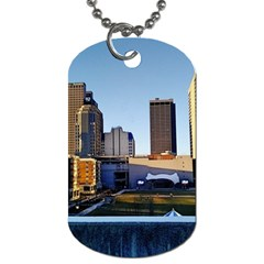 Columbus Skyline Dog Tag (two Sides) by Riverwoman