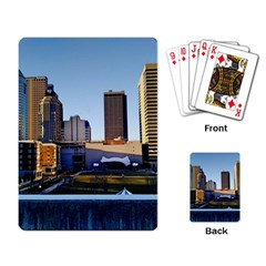 Columbus Skyline Playing Cards Single Design by Riverwoman