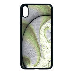 Graphic Fractal Eddy Curlicue Leaf Apple Iphone Xs Max Seamless Case (black)