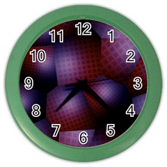 Fractal Rendering Background Color Wall Clock