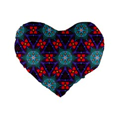 Ornament Colorful Background Color Standard 16  Premium Flano Heart Shape Cushions