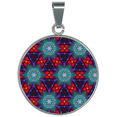 Ornament Colorful Background Color 30mm Round Necklace by Pakrebo