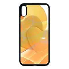 Lines Wave Heart Love Smile Apple Iphone Xs Max Seamless Case (black)