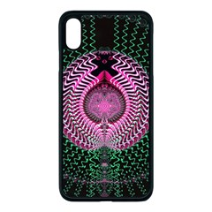 Fractal Traditional Fractal Hypnotic Apple Iphone Xs Max Seamless Case (black)