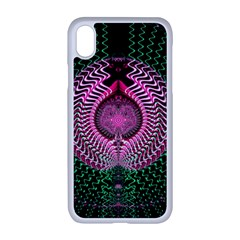 Fractal Traditional Fractal Hypnotic Apple Iphone Xr Seamless Case (white)