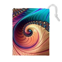 Fractal Multi Colored Fantasia Drawstring Pouch (xl)