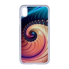 Fractal Multi Colored Fantasia Apple Iphone Xr Seamless Case (white)