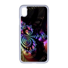 Fractal Colorful Background Apple Iphone Xr Seamless Case (white)