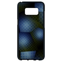Fractal Rendering Background Green Samsung Galaxy S8 Black Seamless Case