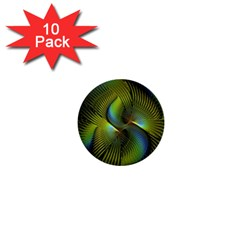 Fractal Abstract Design Fractal Art 1  Mini Buttons (10 Pack)