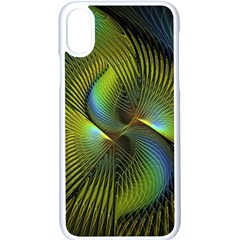 Fractal Abstract Design Fractal Art Apple Iphone X Seamless Case (white)