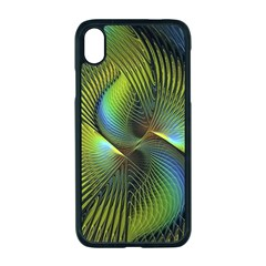 Fractal Abstract Design Fractal Art Apple Iphone Xr Seamless Case (black)