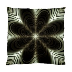 Fractal Silver Waves Texture Standard Cushion Case (one Side)