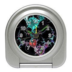 Fractal Colorful Abstract Aesthetic Travel Alarm Clock