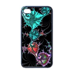 Fractal Colorful Abstract Aesthetic Apple Iphone 4 Case (black)