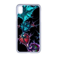 Fractal Colorful Abstract Aesthetic Apple Iphone Xr Seamless Case (white)