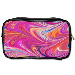 Seamless Digital Tile Texture Toiletries Bag (one Side)