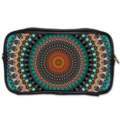 Ornament Circle Picture Colorful Toiletries Bag (two Sides)