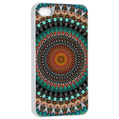 Ornament Circle Picture Colorful Apple Iphone 4/4s Seamless Case (white)
