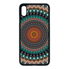 Ornament Circle Picture Colorful Apple Iphone Xs Max Seamless Case (black)