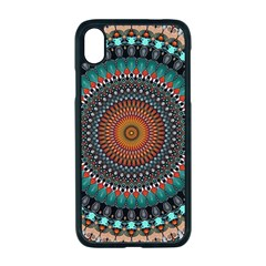 Ornament Circle Picture Colorful Apple Iphone Xr Seamless Case (black)