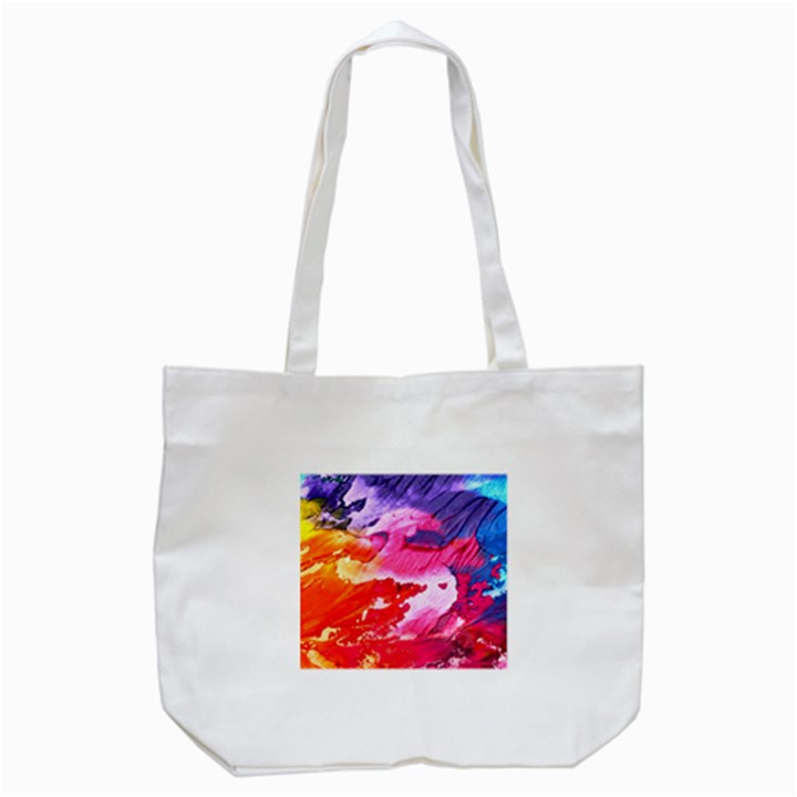 Abstract Art Background Paint Tote Bag (White)