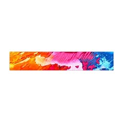 Abstract Art Background Paint Flano Scarf (mini)