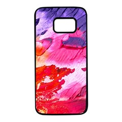 Abstract Art Background Paint Samsung Galaxy S7 Black Seamless Case