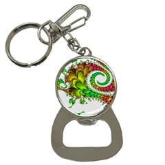 Fractal Abstract Aesthetic Pattern Bottle Opener Key Chains by Pakrebo