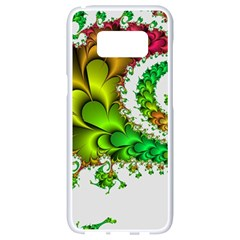 Fractal Abstract Aesthetic Pattern Samsung Galaxy S8 White Seamless Case