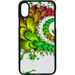 Fractal Abstract Aesthetic Pattern Apple iPhone X Seamless Case (Black) Front