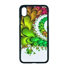 Fractal Abstract Aesthetic Pattern Apple Iphone Xr Seamless Case (black)