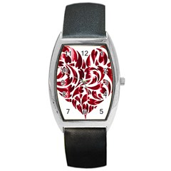 Abstract Geometric Art Fractal Barrel Style Metal Watch