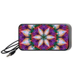Seamless Abstract Colorful Tile Portable Speaker