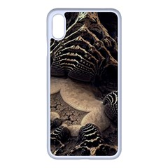 Fractal Bones Cave Fossil Render Apple Iphone Xs Max Seamless Case (white)