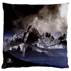 Mountains Moon Earth Space Large Cushion Case (one Side) by Pakrebo