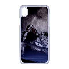 Mountains Moon Earth Space Apple Iphone Xr Seamless Case (white)