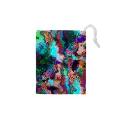 Seamless Abstract Colorful Tile Drawstring Pouch (xs)